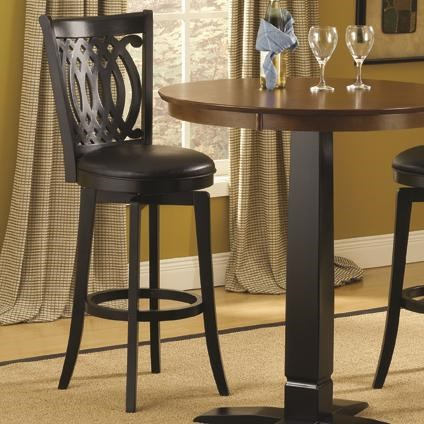 Hillsdale Dynamic Designs 30 Inch Swivel Bar Stool With Upholstered
