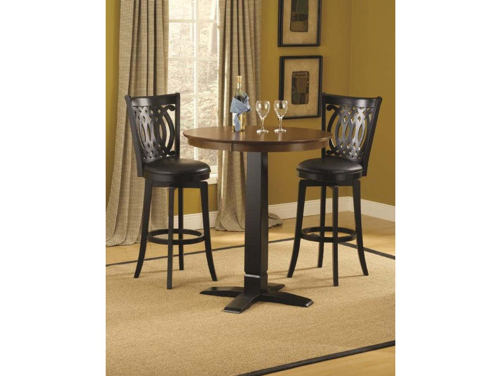 Dynamic Designs Bar Height Bistro Table And Swivel Chairs Sadler S Home Furnishings Pub Table And Stool Sets