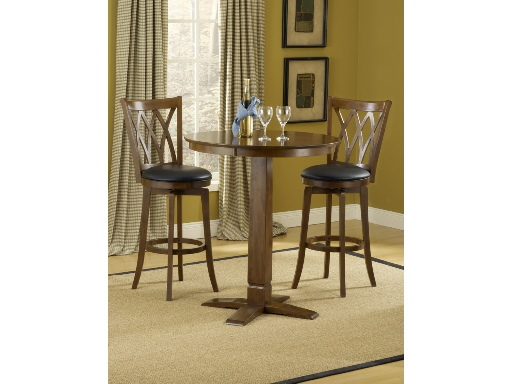Hillsdale Dynamic Designs3-Piece Bar Table and Stool Set