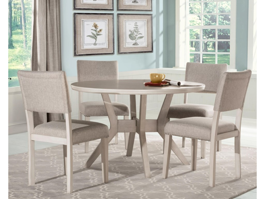 Hillsdale Elder Park Round Dining Table Set with 9 Chairs ...