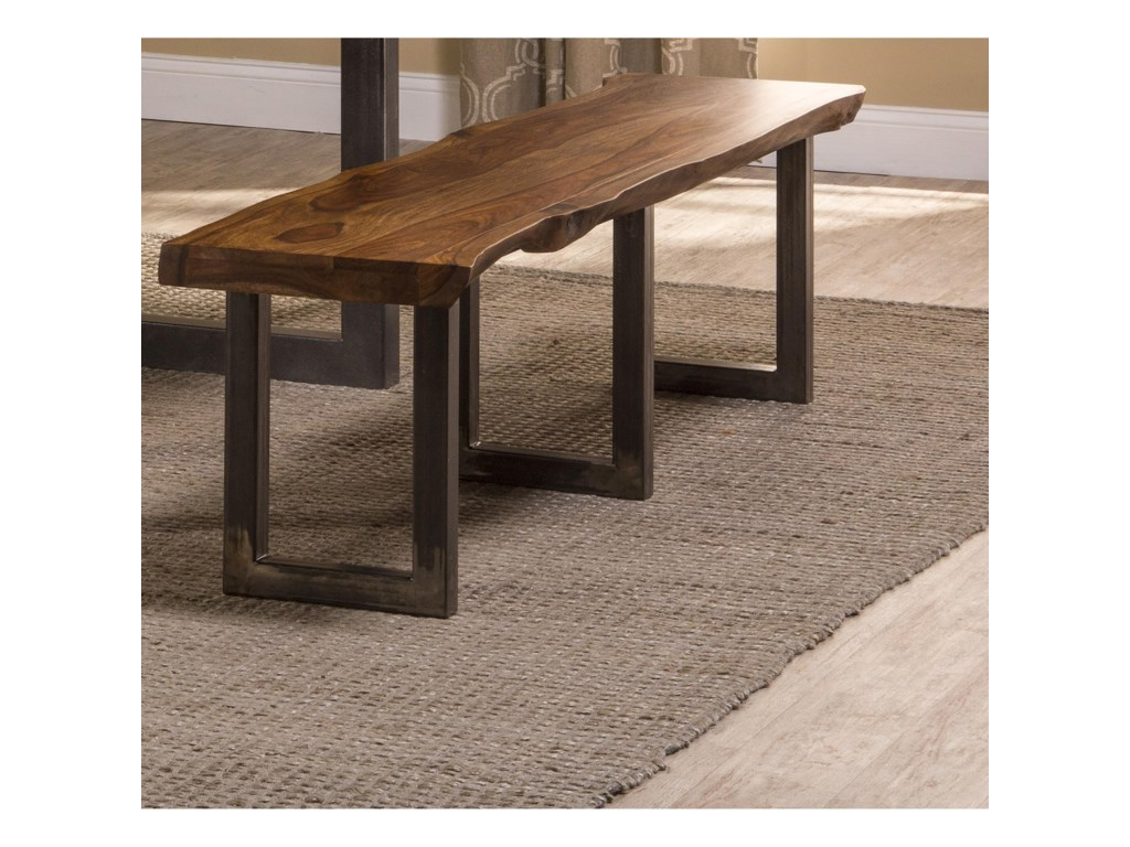 Hillsdale Emerson Natural Sheesham Bench