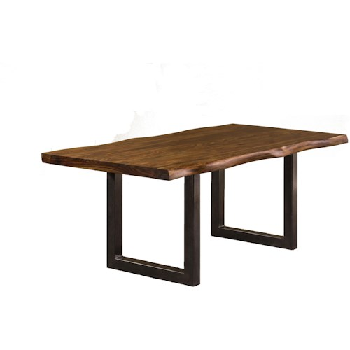 Hillsdale Emerson  Natural Sheesham Wood Rectangular Dining Table