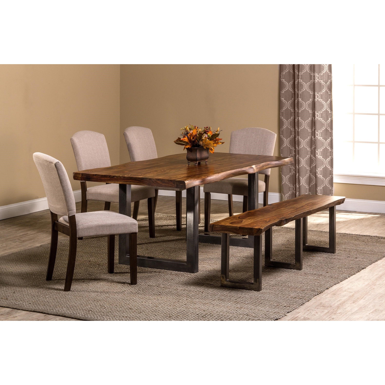 ... Hillsdale EmoryNatural Sheesham Wood Dining Table ...