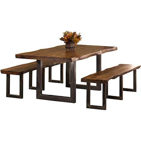 3-Piece Rectangle Dining Set