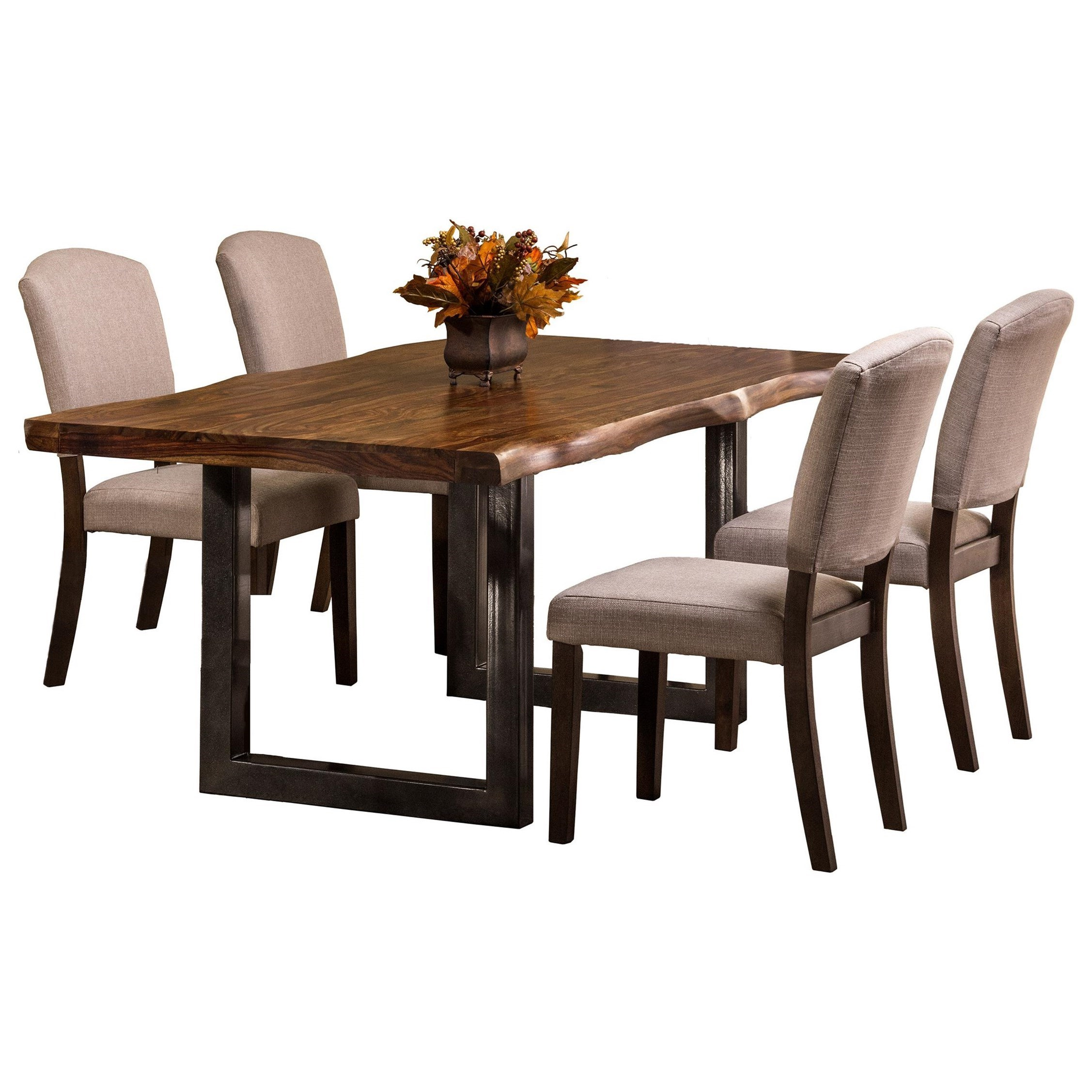 Emerson 5 Piece Rectangle Dining Set With Natural Sheesham Wood By Hillsdale