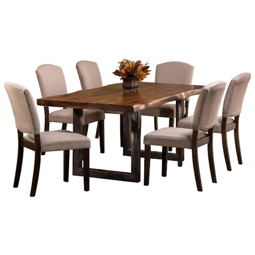 Hillsdale Emerson  7-Piece Rectangle Dining Set with Sheesham Wood