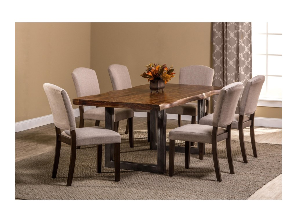 Emerson 7-Piece Rectangle Dining Set with Sheesham Wood by Hillsdale at  Wayside Furniture