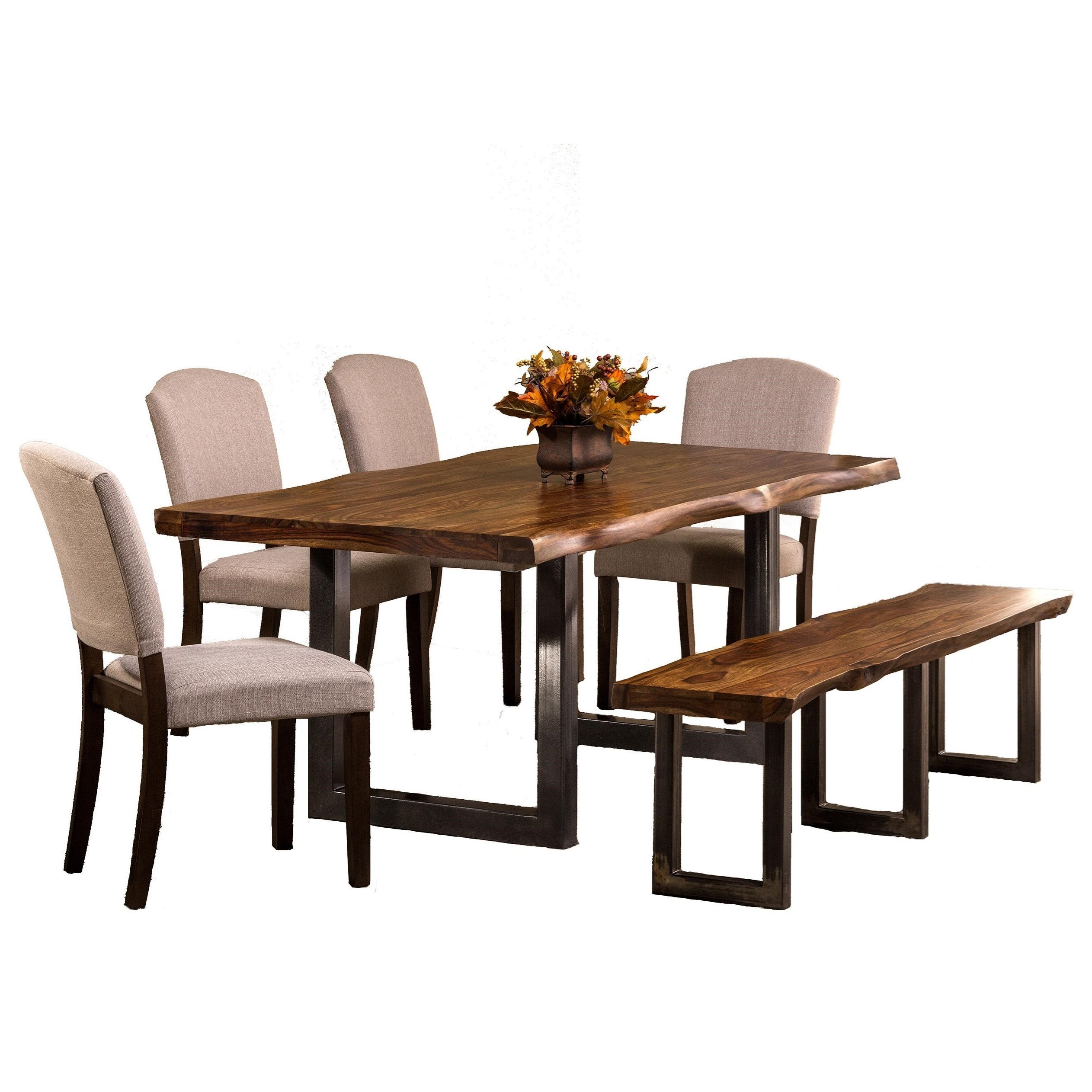 Hillsdale Emerson 6 Piece Rectangle Dining Set With Dining Bench And Chairs