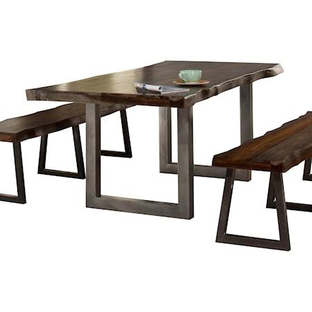 Natural Sheesham Wood Dining Table