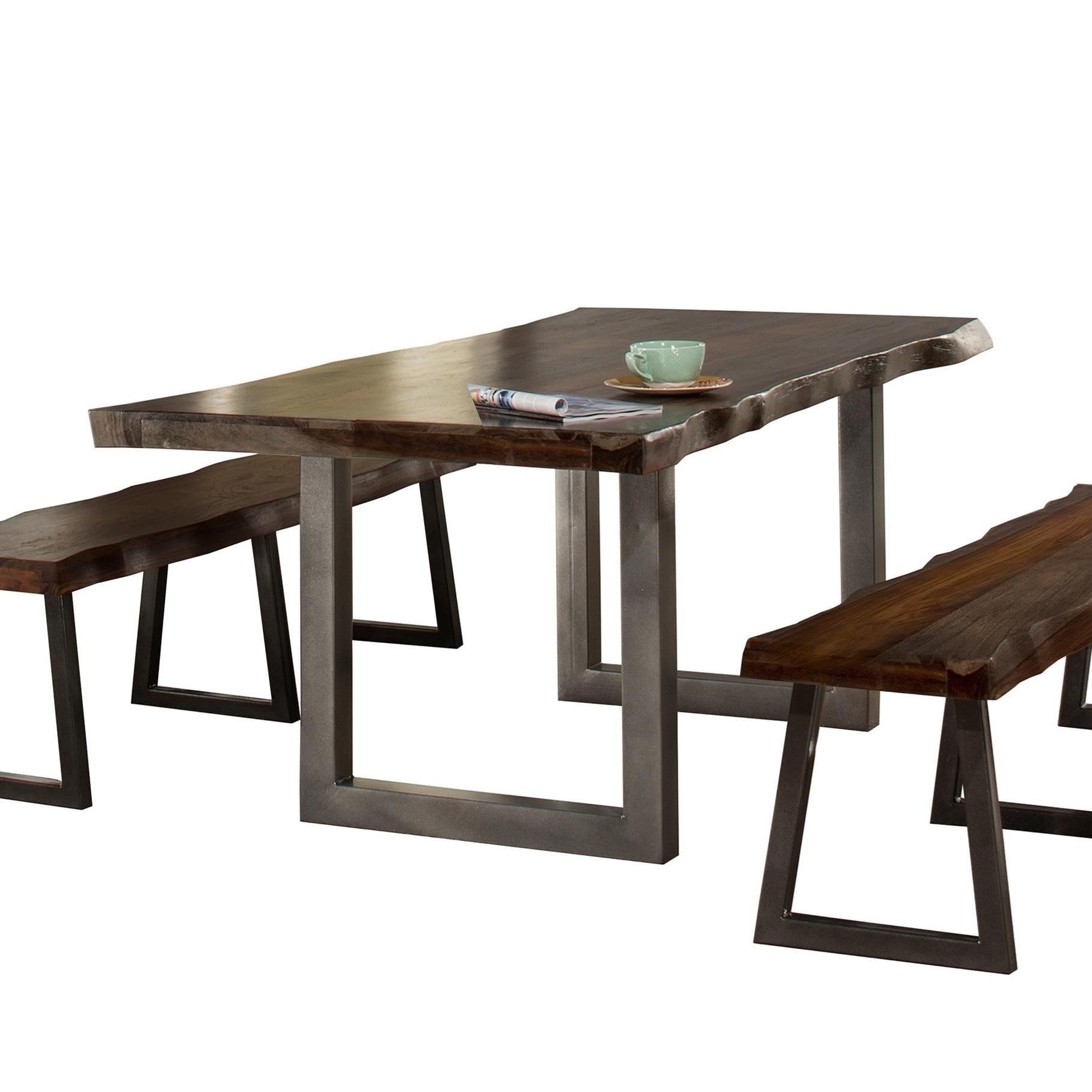 Hillsdale Emerson Natural Sheesham Wood Rectangular Dining Table