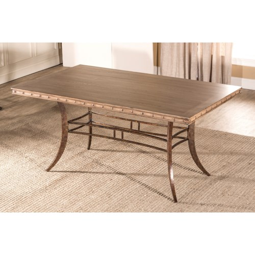 Hillsdale Emmons Rectangle Dining Table with Stud Details