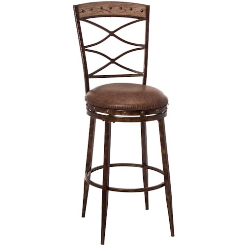Hillsdale Emmons Swivel Counter Stool with Double X-Design