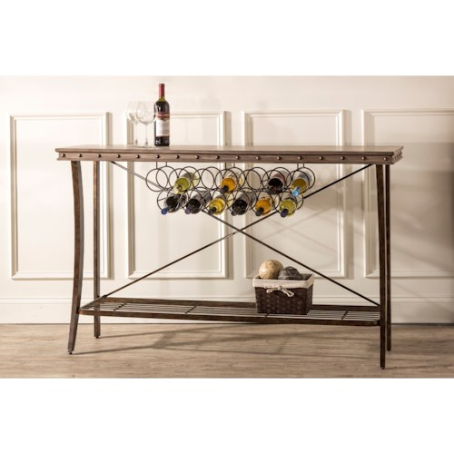 Hillsdale Emmons Server with Wine Bottle Storage