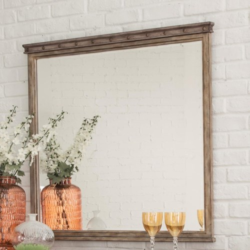 Hillsdale Emmons Square Mirror with Wooden Frame