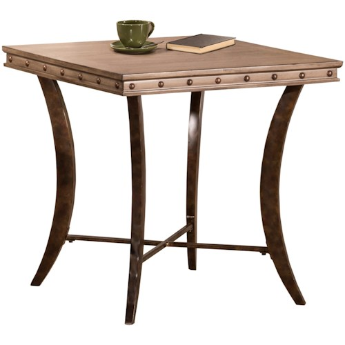 Hillsdale Emmons End Table with Stud Details