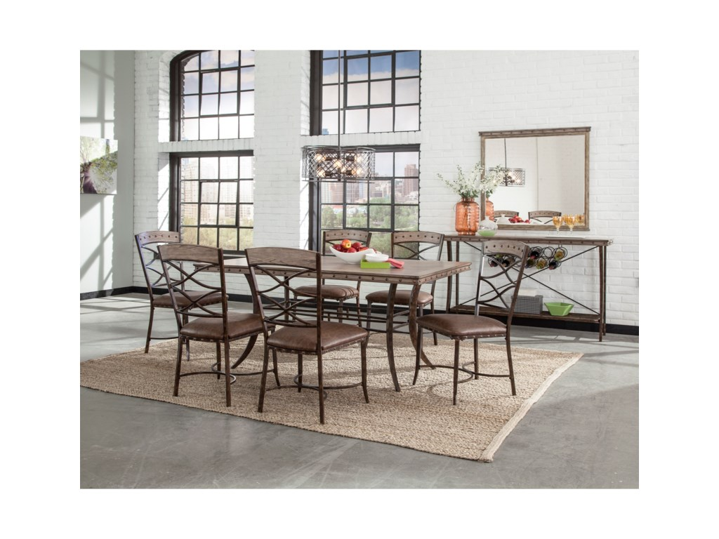 Hillsdale Emmons7-Piece Rectangle Dining Set