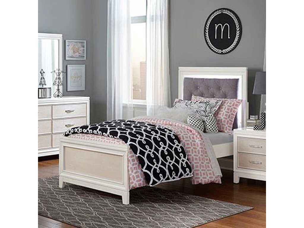 Hillsdale EvelynTwin Bed with Upholstered Headboard