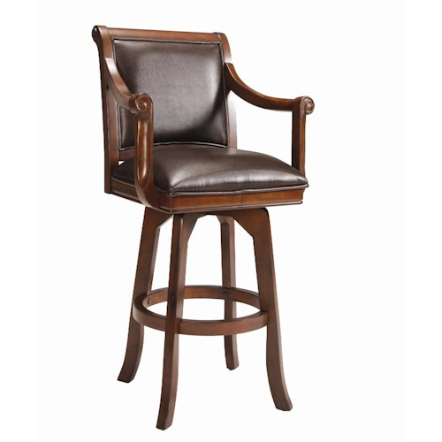 Hillsdale Game Stools & Chairs Palm Springs Swivel Bar Stool
