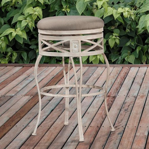 Hillsdale Indoor/Outdoor Stools Backless Swivel Counter Stool