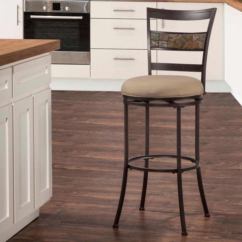 Hillsdale Indoor Outdoor Stools Swivel Bar Stool With Ladderback