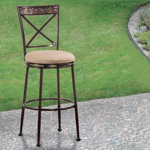 Hilale Indoor Outdoor Stools Swivel Counter Stool With X Back