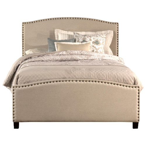 Hillsdale Kerstein King Bed Set with Rails Included and Nail-head Trim