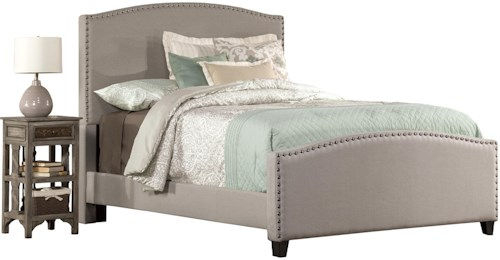 Hillsdale Kerstein Twin Bed Set with Rails Included and Nail-head Trim