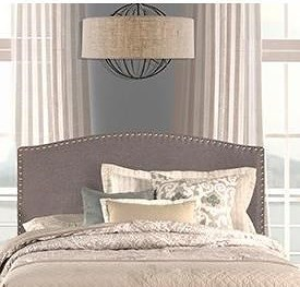 Hillsdale Kerstein King Headboard with Frame Included and Nail-head Trim