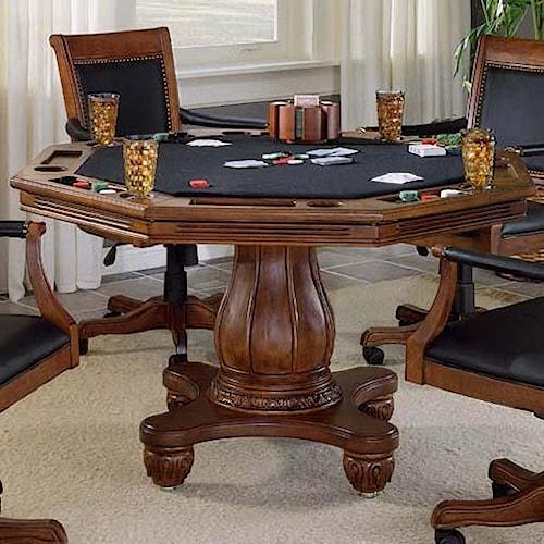 Hillsdale Kingston Single Pedestal Game Table