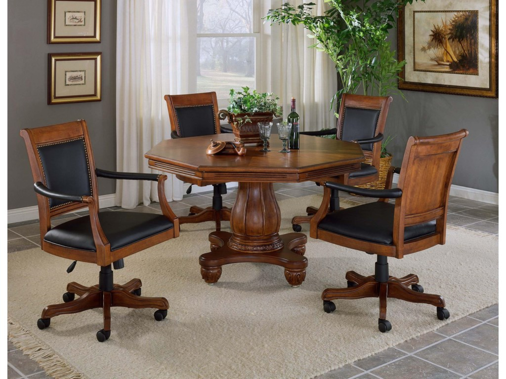 Hillsdale KingstonGame Set with Leather Chairs
