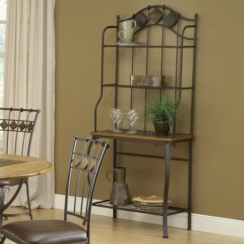 Hillsdale Lakeview Slate Top Baker's Rack