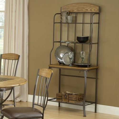 Hillsdale Lakeview Wood Top Baker's Rack
