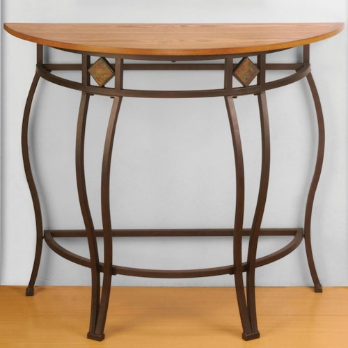 Hillsdale Lakeview Console Table w/ Wood Top