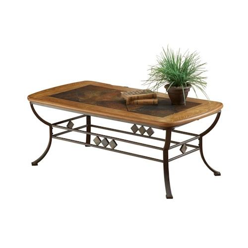 Hillsdale Lakeview Lakeview Cocktail Table with Wood & Stone Top