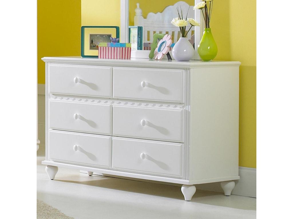 Hillsdale Lauren 6-Drawer Dresser & Mirror