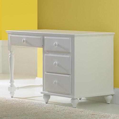 Hillsdale Lauren  Single Pedestal Desk w/ 4 Drawers
