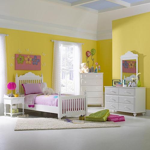 Hillsdale Lauren  5-Piece Full Bedroom Group with Poster Bed