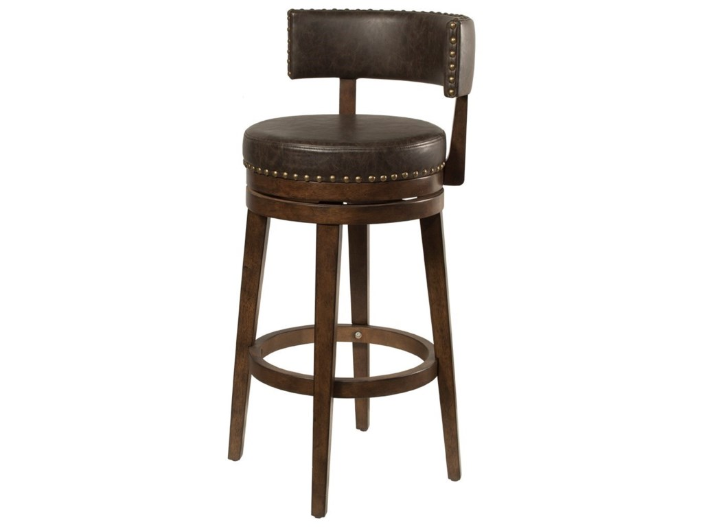Hillsdale Lawton Low Back Swivel Bar Stool Wayside Furniture Bar Stools