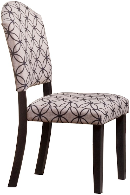 Hillsdale Lorient Parsons Dining Chair with Flared Legs