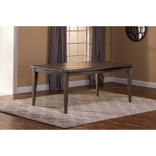 Hillsdale Lorient Rectangle Dining Table with Tapered Feet