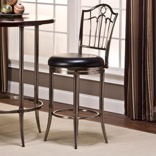 Portland Swivel Bar Stool with Upholstered Seat