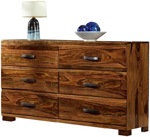 Hillsdale Madera Dresser with 6 Drawers and Block Feet