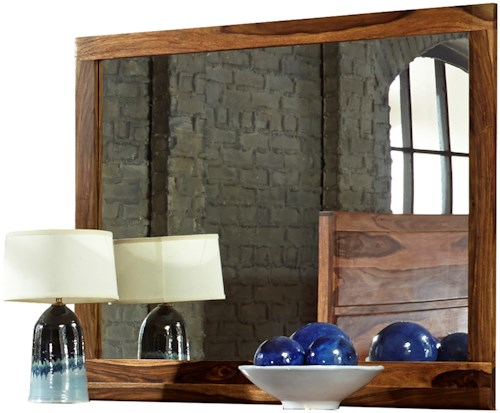Hillsdale Madera Landscape Mirror with Natural Finish