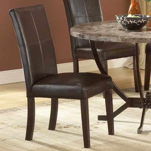 Monaco Upholstered Side Parson Dining Chair By Hillsdale