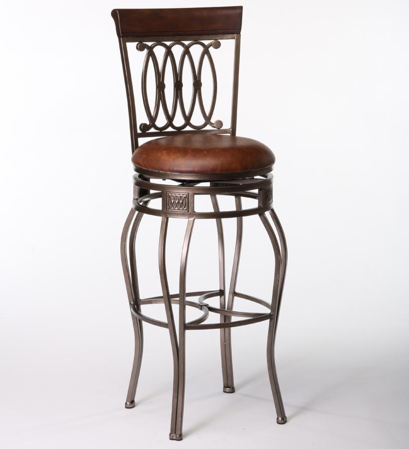 Hillsdale Montello 32 Bar Swivel Stool W Upholstered Seat