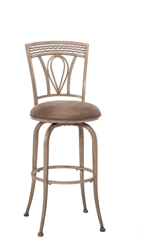 Hillsdale Napier Metal Swivel Bar Stool