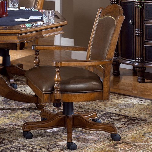 Hillsdale Nassau Tilt/Swivel Game Chair w/ Adjustable Height
