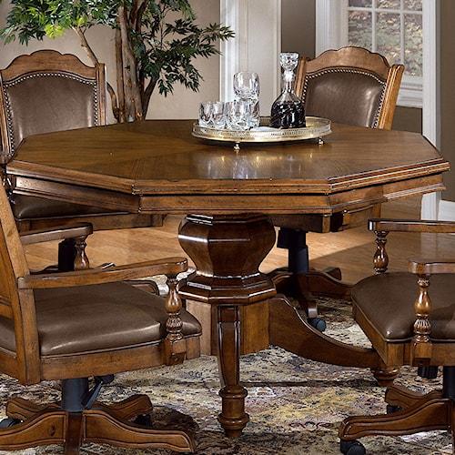 Hillsdale Nassau Nassau Single Pedestal Game Table Story Lee Furniture Game Table Leoma