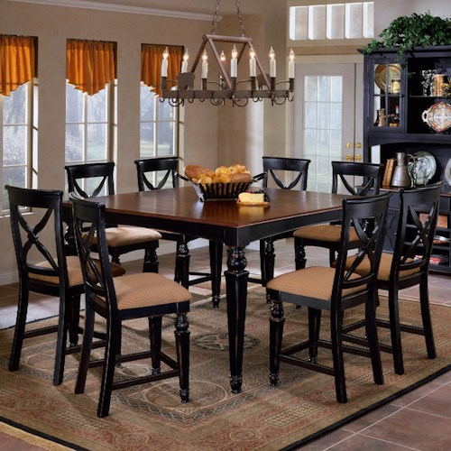 Hillsdale Northern Heights Nine Piece Counter Height Dining Set