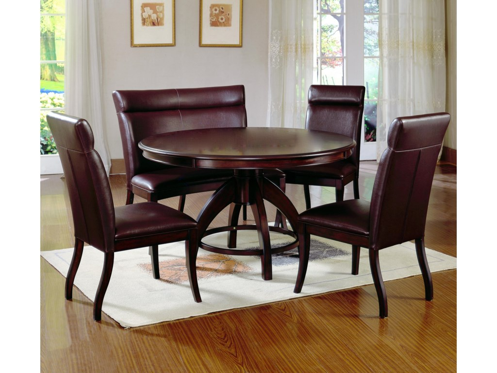 Shown with Round Pedestal Dining Table and Nottingham Dinner Bench
